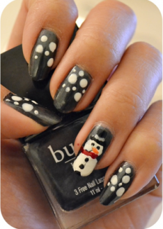 Manicure Monday | NAIL TUTORIAL #Winter Edition #Snowman