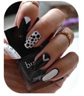 Manicure Monday | NAIL TUTORIAL #Black and White Party Nails