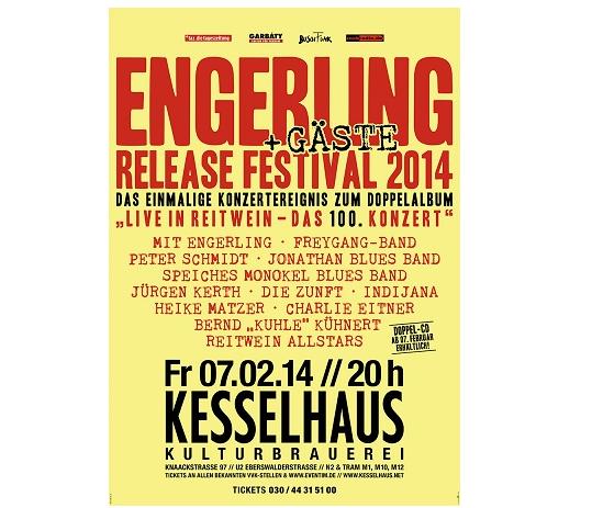 Engerling und Gäste, Konzert am 7. Februar 2014 im Berliner Kesselhaus