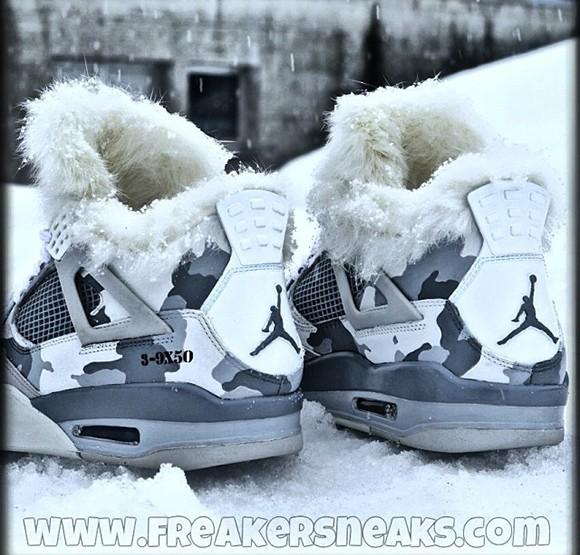 """Die besten Sneaker für den Winter 2014 - Air Jordan IV """"Snow Sniper"""