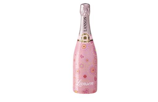 Lanson präsentiert Rosé Label Pink Edition im Love-Outfit zum Valentinstag