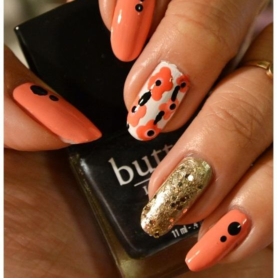 Manicure Monday   NAIL TUTORIAL #Floral Theme