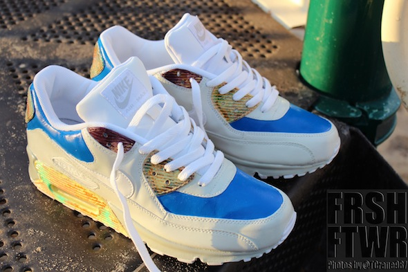 "The coolest sneakers in the world - Mac Millers Nike Air Max 90 ""Blue Slide Park"