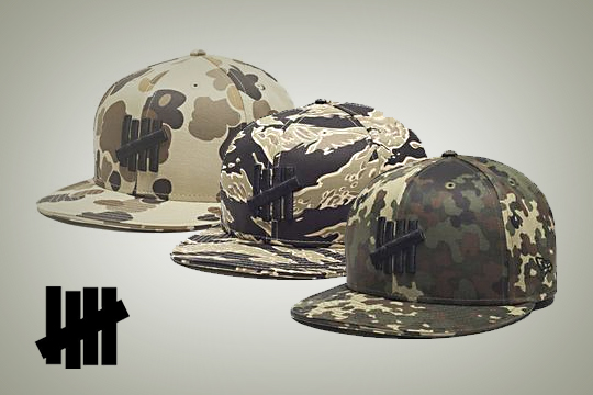 Die fettesten Basecaps ever - Undefeated Camo Pack Fitted Hats New Era