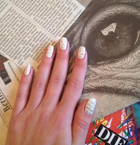 Styling- und Beauty-Tipp Berlin |Tutorial für Nageldesign mit Zeitungspapier