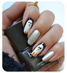 Manicure Monday | NAIL TUTORIAL #Penguin Nails