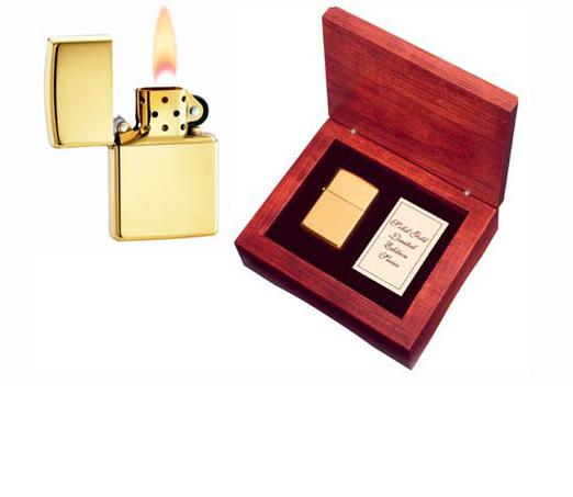 Die teuersten und edelsten Zippos der Welt - 18 Karat Gold Zippo