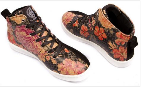"""Die schönsten Sneaker 2014: Gourmet Footwear- """"QUATTRO SKATE 2 SP"""" Flower Black/White"""
