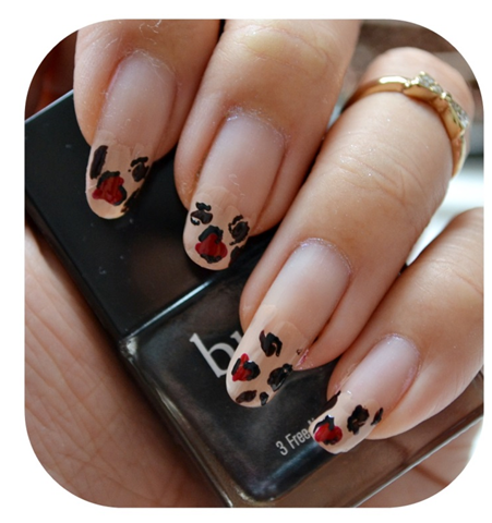 Manicure Monday | NAIL TUTORIAL #Leopard Hearts
