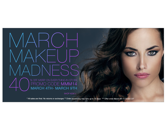 Beauty on a Budget | March Makeup Madness: 40% off Everything on Cherryculture!