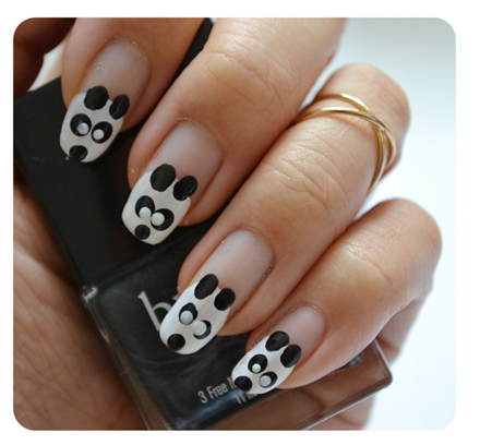 Manicura luni | NAIL TUTORIAL # panda porta