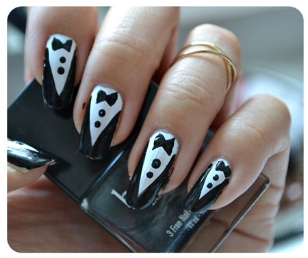 Manicure Monday | NAIL TUTORIAL #Tuxedo Nails