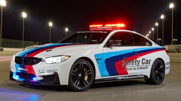 Das neue BMW M4 Coupé ist offizielles MotoGP Safety Car