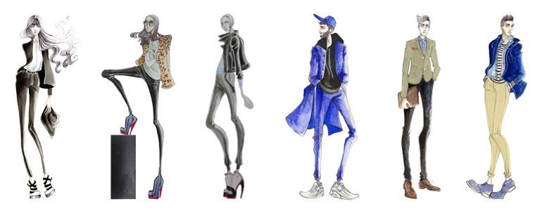 Who's the one: Gewinnspiel zu studentischem Illustrationsprojekt