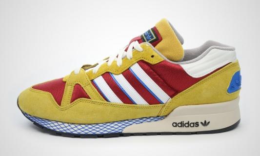 Die schönsten Sneaker 2014: Adidas ZX 710 Curry/Rot