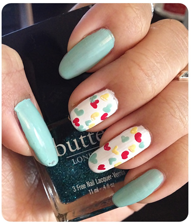Manicure Monday | NAIL TUTORIAL #HeartyTurquoiseSpring