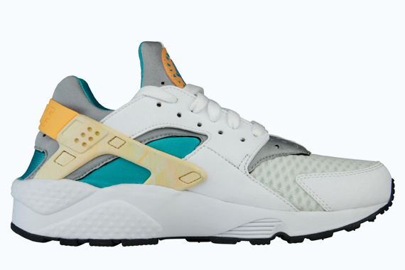 Die schönsten Sneaker 2014: Nike Womens Air Huarache - White - Atomic Orange - Teal