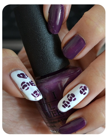 Manicure Monday | NAIL TUTORIAL #PurpleRoses