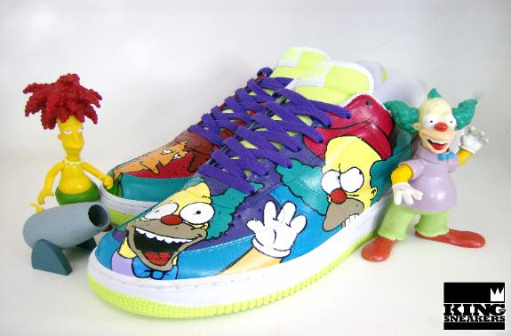 Die schönsten Custom Sneaker 2014: King of Sneakers Krusty and Sideshow Bob