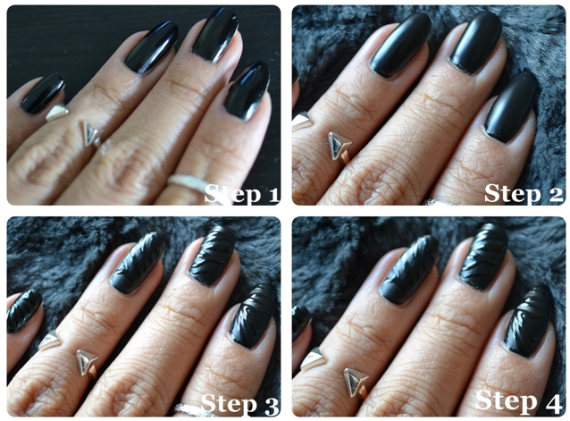 black zebra nails 2