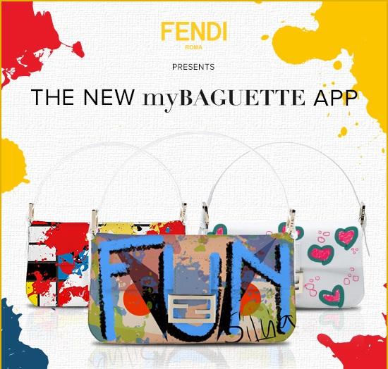 Die neue myBAGUETTE App von Fendi!
