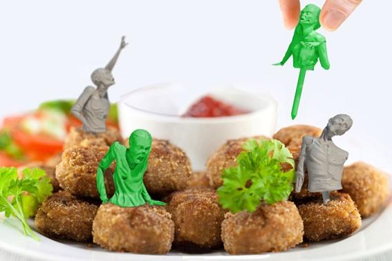 Coole Dekoration fürs Essen: Food Zombies