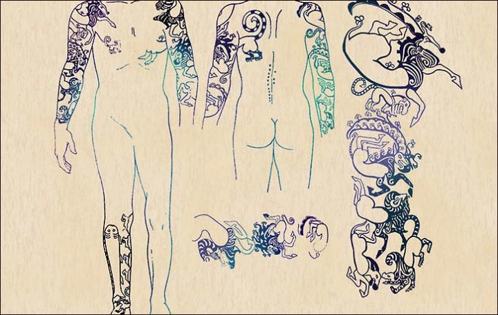 I tatuaggi di 2500 anni di una principessa ukok