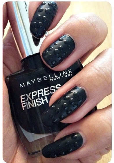 manicure monday nail tutorial matte studded nails read the trieb. Black Bedroom Furniture Sets. Home Design Ideas