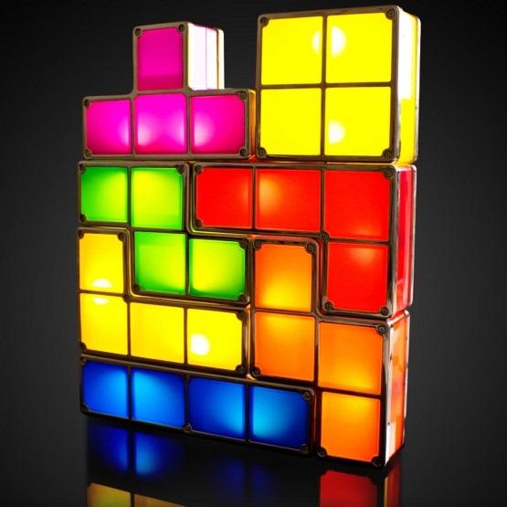 Punta di mobili: lampada Tetris