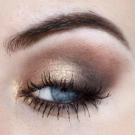 Styling- und Beauty-Tipp Berlin | Gold-Bronze Smokey Eye