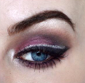 Styling- und Beauty-Tipp Berlin | Aubergine & Silver Clubbing Make-up