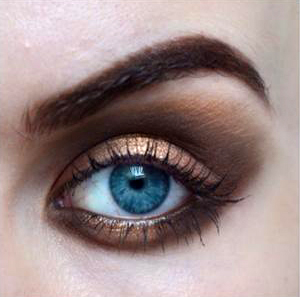 Styling- und Beauty-Tipp Berlin | Gold&Brown Smokey Eye