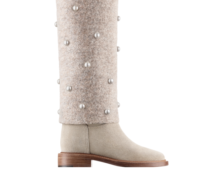 The best Boots 2014: pearl-embroidered booties by Chanel