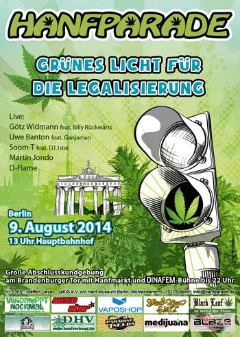 Veranstaltungstipp Berlin: Hanfparade - Grünes Licht für die Legalisierung