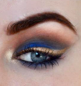 Styling- und Beauty-Tipp Berlin | Blue & Gold Clubbing Make-up