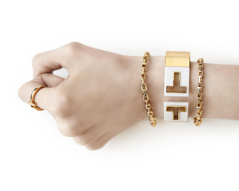 Tiffany T Narrow Ring White
