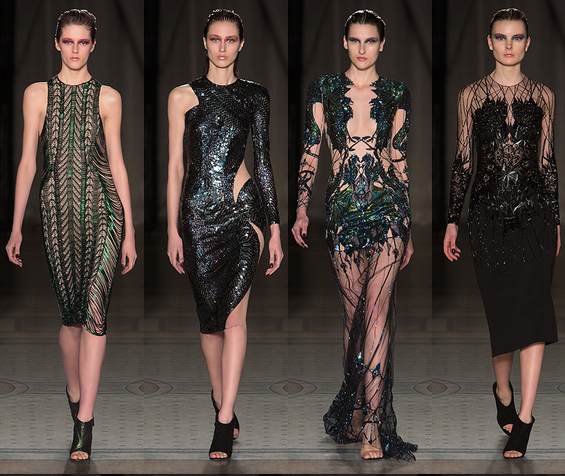London Fashion Week, September 2014 präsentiert – Julien Macdonald, für Sie HW14/15