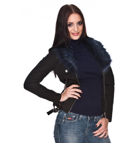 "SILVIAN HEACH Jacket ""Forte"" with Fake Fur"