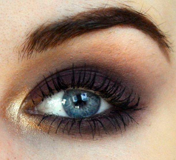 Styling- und Beauty-Tipp Berlin | Purple & Gold Smokey Eye