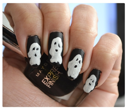 Manicure Monday | Halloween Edition: #Ghosttown