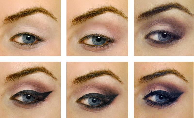 purple smokey eyes