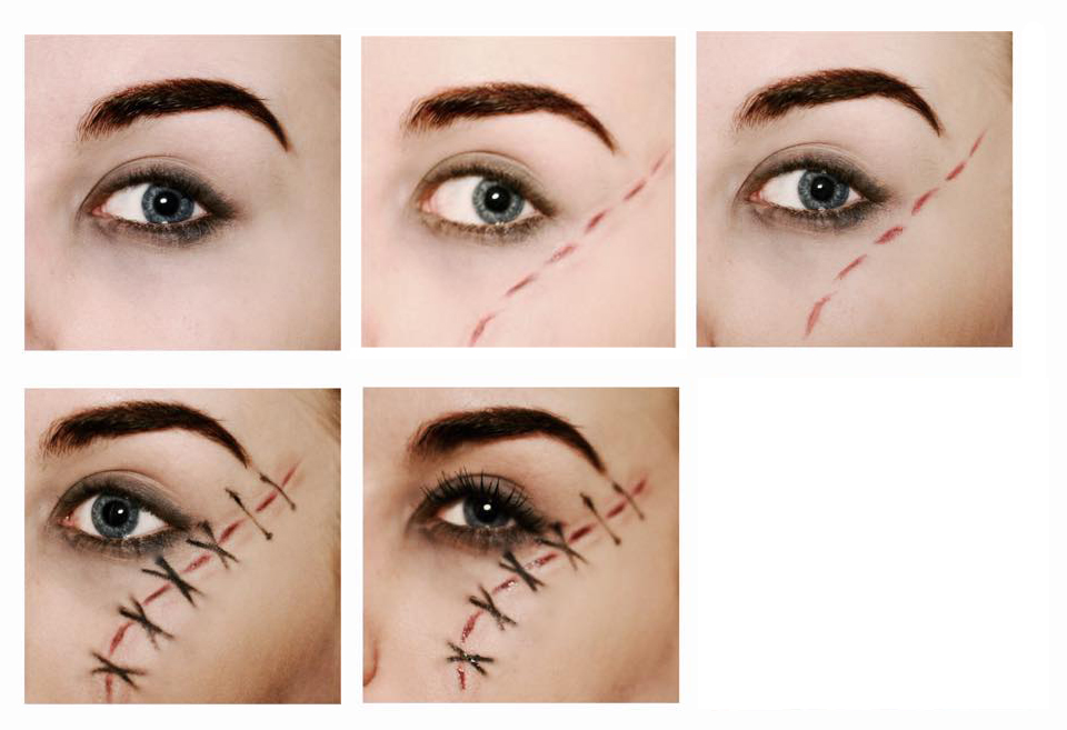 Styling And Beauty Tip Berlin Halloween Makeup Stitched Wound