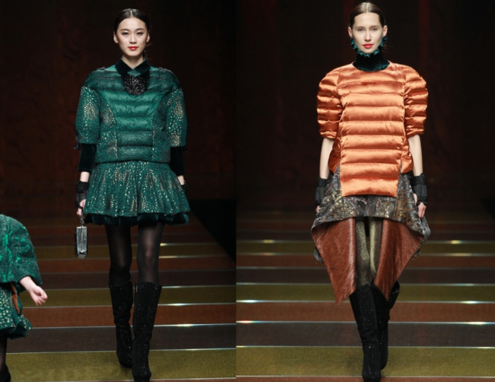 Mercedes-Benz China Fashion Week, Oktober/November 2014 präsentiert – Bosideng, für Sie HW 14/15