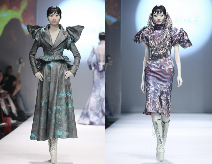 Mercedes-Benz China Fashion Week, Oktober/November 2014 präsentiert – Hu Sheguang, für Sie HW 14/15