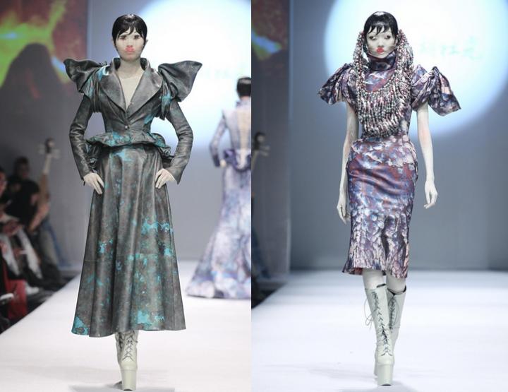 Mercedes-Benz China Fashion Week, Oktober/November 2014 präsentiert – Hu Sheguang, für Sie HW 14/15