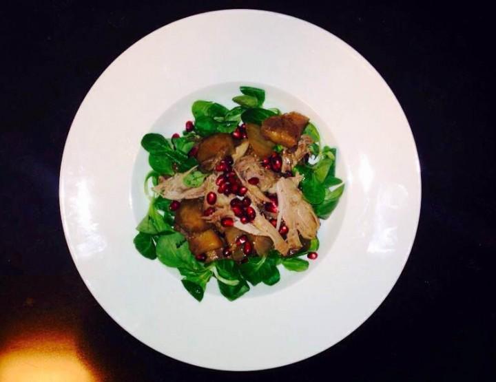 Gesunder Lebensstil – Salat der Woche:  Granatapfel mit Gänsebraten