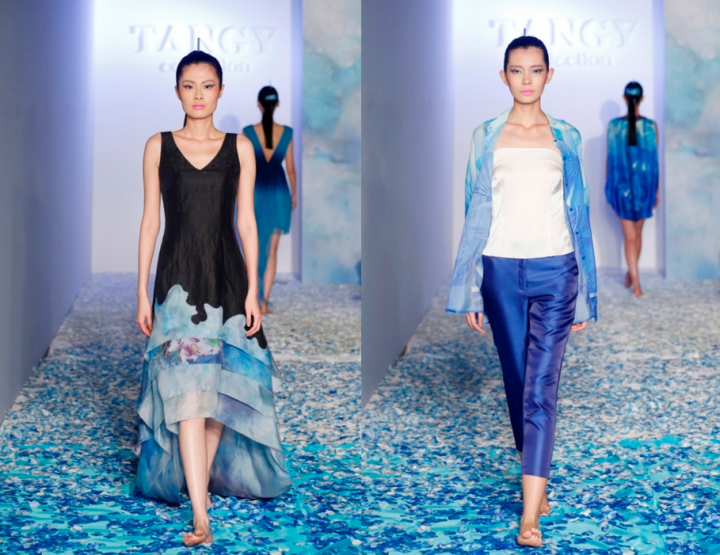 Mercedes-Benz China Fashion Week, Oktober/November 2014 präsentiert – Liangzi, for her 'Tangy Kollektion'