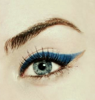 Styling- und Beauty-Tipp Berlin | Blue & Gold Eyeliner