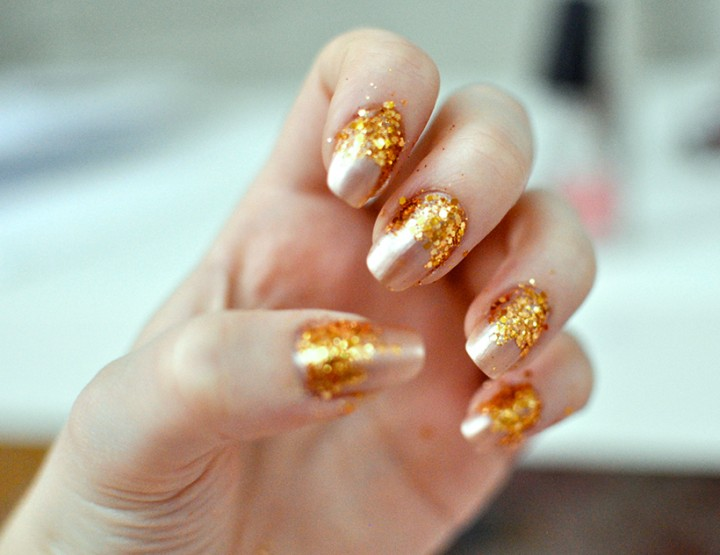 Styling- und Beauty-Tipp Berlin | Gold Glitter Nails