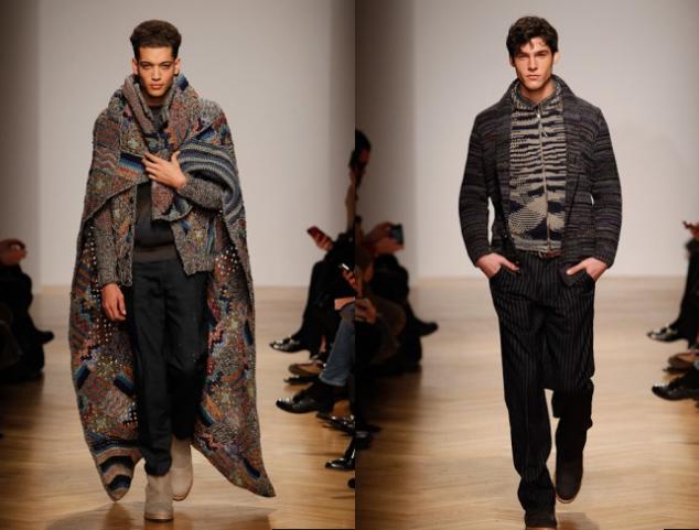 Missoni Strickmode, für Ihn - Fashion News 2014 Herbst- und Winterkollektion